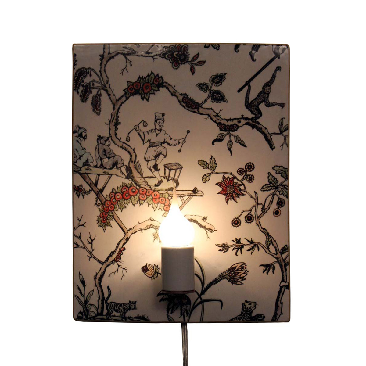 asian garden wired sconce (single or pair) | wanderlust ceramics